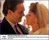 Louis-Philippe Dandenault et Catherine Trudeau <br /> dans Histoire de Famille<br /> <br /> Editorial Only - for media use only<br /> Pour usage media (editorial)  Uniquement<br /> <br /> (c) Tele Quebec