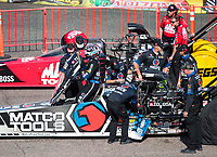 Feb 23, 2020; Chandler, Arizona, USA; Crew members for NHRA top fuel driver Antron Brown during the Arizona Nationals at Wild Horse Pass Motorsports Park. Mandatory Credit: Mark J. Rebilas-USA TODAY Sports