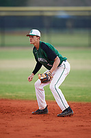 Dartmouth Big Green second baseman Dustin Shirley (6) during a game against the Southern Maine Huskies on March 23, 2017 at Lake Myrtle Park in Auburndale, Florida.  Dartmouth defeated Southern Maine 9-1.  (Mike Janes/Four Seam Images)