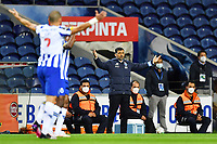 22nd April 2021; Dragao Stadium, Porto, Portugal; Portuguese Championship 2020/2021, FC Porto versus Vitoria de Guimaraes; FC Porto manager Sergio Conceição appeals to the referee