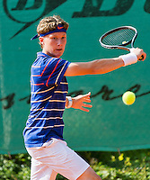 August 4, 2014, Netherlands, Dordrecht, TC Dash 35, Tennis, National Junior Championships, NJK,  Karol van der Linden (NED)<br /> Photo: Tennisimages/Henk Koster