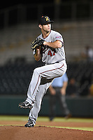 Salt River Rafters pitcher Jake Reed (47) during an Arizona Fall League game against the Scottsdale Scorpions on October 8, 2014 at Scottsdale Stadium in Scottsdale, Arizona.  Salt River defeated Scottsdale 6-3.  (Mike Janes/Four Seam Images)