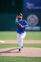 South Bend Cubs starting pitcher Tyson Miller (35) delivers a pitch during a game against the Kane County Cougars on May 3, 2017 at Four Winds Field in South Bend, Indiana.  South Bend defeated Kane County 6-2.  (Mike Janes/Four Seam Images)