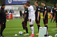 Co-Trainer Armin Reuthershahn (Eintracht Frankfurt), Yanni Regäsel (Eintracht Frankfurt), Sebastian Haller (Eintracht Frankfurt), Bastian Oczipka (Eintracht Frankfurt), Branimir Hrgota (Eintracht Frankfurt) - 01.07.2017: Eintracht Frankfurt Trainingsauftakt, Commerzbank Arena