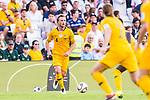 Rhyan Bert Grant of Australia (L) runs with the ball during the AFC Asian Cup UAE 2019 Group B match between Australia (AUS) and Jordan (JOR) at Hazza Bin Zayed Stadium on 06 January 2019 in Al Ain, United Arab Emirates. Photo by Marcio Rodrigo Machado / Power Sport Images