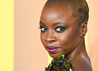"""Danai Gurira<br /> arriving for the """"Black Panther"""" premiere at the Hammersmith Apollo, London<br /> <br /> <br /> ©Ash Knotek  D3376  08/02/2018"""