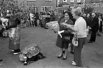 Scuttlebrook Wake, Chipping Campden, Gloucestershire, England 1973. Children fancy dress parade prize giving.