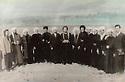 Iran 1966 .Kurdish mullahs visiting a village near Sakkez.<br /> Iran 1966.Mollahs kurdes visitant un vlllage de la region de Sakkez.I