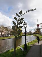 Nederland Leiden 2021.  Weg naar de Lammermarkt in Leiden.     Foto ANP / Hollandse Hoogte / Berlinda van Dam