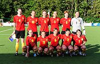 Vriendschappelijke interland vrouwenvoetbal : Belgium A - France A te Nieuwpoort ;..ploegfoto Belgie A..foto DAVID CATRY / Vrouwenteam.be
