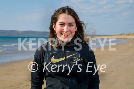 Nicole Walker training on Banna beach for the upcoming International games which were cancelled last year and hopes that they will go ahead this year.