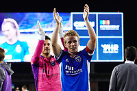 SAN JOSE, CA - MAY 1: Jackson Yueill #14 of the San Jose Earthquakes celebrates during a game between D.C. United and San Jose Earthquakes at PayPal Park on May 1, 2021 in San Jose, California.