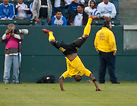 CARSON, CA – June 6, 2011: Jamaican player Joseph Lancaster celebrates his goal during the match between Grenada and Jamaica at the Home Depot Center in Carson, California. Final score Jamaica 4 and Grenada 0.