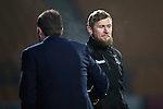 St Johnstone v Inverness Caley Thistle…03.12.16   McDiarmid Park..     SPFL<br />Richie Foran and Tommy Wrgiht shake hands at full time<br />Picture by Graeme Hart.<br />Copyright Perthshire Picture Agency<br />Tel: 01738 623350  Mobile: 07990 594431