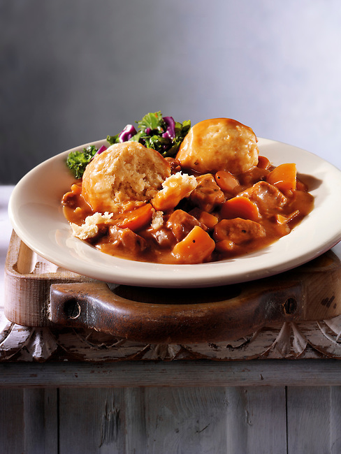 British Food - Beef stew & Dumplings