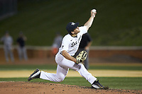 Wake Forest Demon Deacons relief pitcher Bobby Hearn (34) in action against the Davidson Wildcats at David F. Couch Ballpark on May 7, 2019 in  Winston-Salem, North Carolina. The Demon Deacons defeated the Wildcats 11-8. (Brian Westerholt/Four Seam Images)