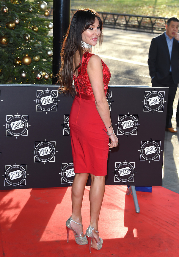 Lizzie Cundy<br /> arriving for the TRIC Christmas Party, Grosvenor House Hotel, London.<br /> <br /> <br /> ©Ash Knotek  D3362  12/12/2017