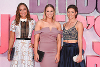 "Olympians, Emily Diamond, Sophie Hitchon and Kelly Massey<br /> at the ""Bridget Jones's Baby"" World premiere, Odeon Leicester Square , London.<br /> <br /> <br /> ©Ash Knotek  D3149  05/09/2016"
