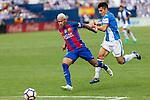 FC Barcelona's Neymar Santos Jr Club Deportivo Leganes's Unai Bustinza during the match of La Liga between Club Deportivo Leganes and Futbol Club Barcelona at Butarque Estadium in Leganes. September 17, 2016. (ALTERPHOTOS/Rodrigo Jimenez)