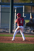 Luke Gilbert (4) of Heritage High School in Littleton, Colorado during the Baseball Factory All-America Pre-Season Tournament, powered by Under Armour, on January 13, 2018 at Sloan Park Complex in Mesa, Arizona.  (Mike Janes/Four Seam Images)