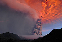 Images of the eruption at the Cordon Del Caulle, Andes, in the vicinity of Puyehue volcano, located in southern Chile, Region de Los Lagos.<br />