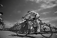 2013 Giro d'Italia.stage 7: Marina di San Salvo - Pescara .177 km..Adam Hansen (AUS) to the start