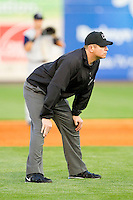Third base umpire Carlos Torres during the International League game between the Charlotte Knights and the Toledo Mudhens at 5/3 Field on May 3, 2013 in Toledo, Ohio.  The Knights defeated the Mudhens 10-2.  (Brian Westerholt/Four Seam Images)