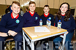 Listellick NS taking part in the Cara Credit Union School Quiz in the I T Tralee on Sunday.<br /> L to r: Mark O'Connor, Oliver Lata, Liam O'Connell and Almha Sheehan.