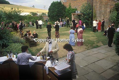 Glyndebourne Festival Opera drinks served at the bar during the interval. 1985 1980s UK