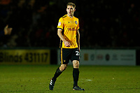 Mickey Demetriou of Newport County during the Sky Bet League Two match between Newport County and Crawley Town at Rodney Parade, Newport, Wales, UK. 19 January 2018