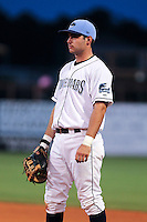 May 18, 2010 Infielder Michael Sheridan of the Charlotte Stone Crabs during a game at Charlotte Sports Park in Port Charlotte FL. The Stone Crabs are the Florida State League Class-A affiliate of the Tampa Bay Rays,Photo by: Mark LoMoglio/Four Seam Images