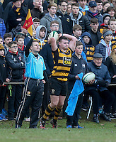 Saturday 18th February 2017   CCB vs RBAI<br /> <br /> Neil Saulters during the Ulster Schools' Cup Quarter Final clash between Campbell College Belfast and RBAI at Foxes Field, Campbell College, Belmont, Belfast, Northern Ireland.<br /> <br /> Photograph by John Dickson   www.dicksondigital.com