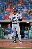 Tampa Tarpons Oswaldo Cabrera (3) during a Florida State League game against the Clearwater Threshers on April 18, 2019 at Spectrum Field in Clearwater, Florida.  Clearwater defeated Tampa 10-3.  (Mike Janes/Four Seam Images)