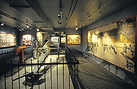 Displays at the US Army Museum, which commemorates warfare in Hawaii from ancient through modern times, at Fort DeRussy Park, Oahu