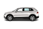 Car Driver side profile view of a 2017 Volkswagen Tiguan Comfortline 5 Door Suv Side View