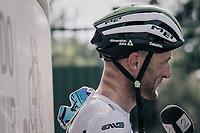 Steve Cummings (GBR/Dimension Data) interviewed after the stage<br /> <br /> 104th Tour de France 2017<br /> Stage 19 - Embrun › Salon-de-Provence (220km)