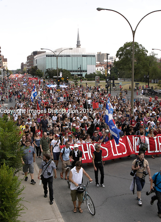 Montreal (QC) CANADA - July 22 2012  File photo- Student Protest against tuition fees increase.