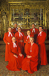 Queens Chaplins in Westminster Abbey London Uk 1980s.