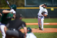Eastern Michigan Eagles relief pitcher Matthew Beaton (19) delivers a pitch during a game against the Dartmouth Big Green on February 25, 2017 at North Charlotte Regional Park in Port Charlotte, Florida.  Dartmouth defeated Eastern Michigan 8-4.  (Mike Janes/Four Seam Images)