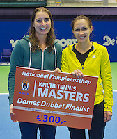 21-12-13,Netherlands, Rotterdam,  Topsportcentrum, Tennis Masters, Runners up lady's final doubles: Danielle Harmsen and Olga Kalyuzhnaya(R)(NED)<br /> Photo: Henk Koster