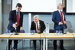 © Joel Goodman - 07973 332324 . 21/07/2016 . Manchester , UK . Hustings for the Mayoralty of Greater Manchester , at the Renold Building of the University of Manchester . Labour candidates Andy Burnham ( MP for Leigh ) , Tony Lloyd ( current interim Mayor ) and  Ivan Lewis ( MP for Bury South ) debate their relative candidacies . Photo credit : Joel Goodman
