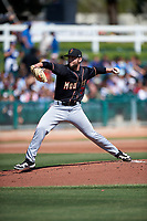 Modesto Nuts starting pitcher Ian McKinney (31) during a California League game against the Inland Empire 66ers on April 10, 2019 at San Manuel Stadium in San Bernardino, California. Inland Empire defeated Modesto 5-4 in 13 innings. (Zachary Lucy/Four Seam Images)