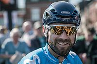 Alejandro Valverde (ESP/Team Movistar) waiting the pre race team presentation. <br /> <br /> 82nd La Flèche Wallonne 2018<br /> 1 Day Race: Seraing - Huy (198,5km)