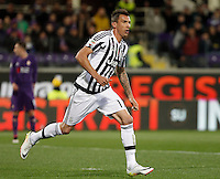 Calcio, Serie A: Fiorentina vs Juventus. Firenze, stadio Artemio Franchi, 24 aprile 2016.<br /> Juventus' Mario Mandzukic reacts after scoring during the Italian Serie A football match between Fiorentina and Juventus at Florence's Artemio Franchi stadium, 24 April 2016. <br /> UPDATE IMAGES PRESS/Isabella Bonotto