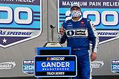 #16: Austin Hill, Hattori Racing Enterprises, United Rentals Toyota Tundra celebrates his win