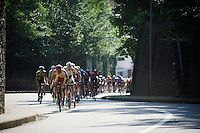 peloton out of the saddle & up the Mechelsestraat (13 times)<br /> <br /> GP Jef Scherens 2015