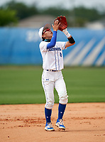 IMG Academy Ascenders Navy shortstop Fukuo Saso (4) during a game against Victory Charter School on April 1, 2021 at IMG Academy in Bradenton, Florida.  (Mike Janes/Four Seam Images)