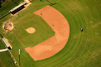Aerial photography over Charlotte, NC, and the surrounding areas from May 2009. Photos by Charlotte photographer Patrick Schneider Photography. Photo looking down on a community baseball field.