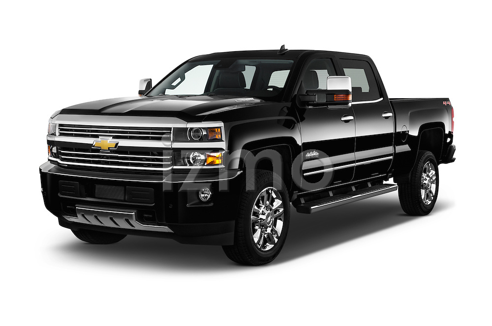 2016 Chevrolet Silverado 2500Hd High Country 4 Door Pick Up Angular Front stock photos of front three quarter view