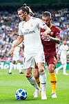 Real Madrid Gareth Bale and A.S. Roma Aleksander Kolarov during UEFA Champions League match between Real Madrid and A.S.Roma at Santiago Bernabeu Stadium in Madrid, Spain. September 19, 2018. (ALTERPHOTOS/Borja B.Hojas)